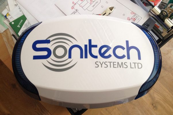 Sonitech Systems Ltd logo on alarm case