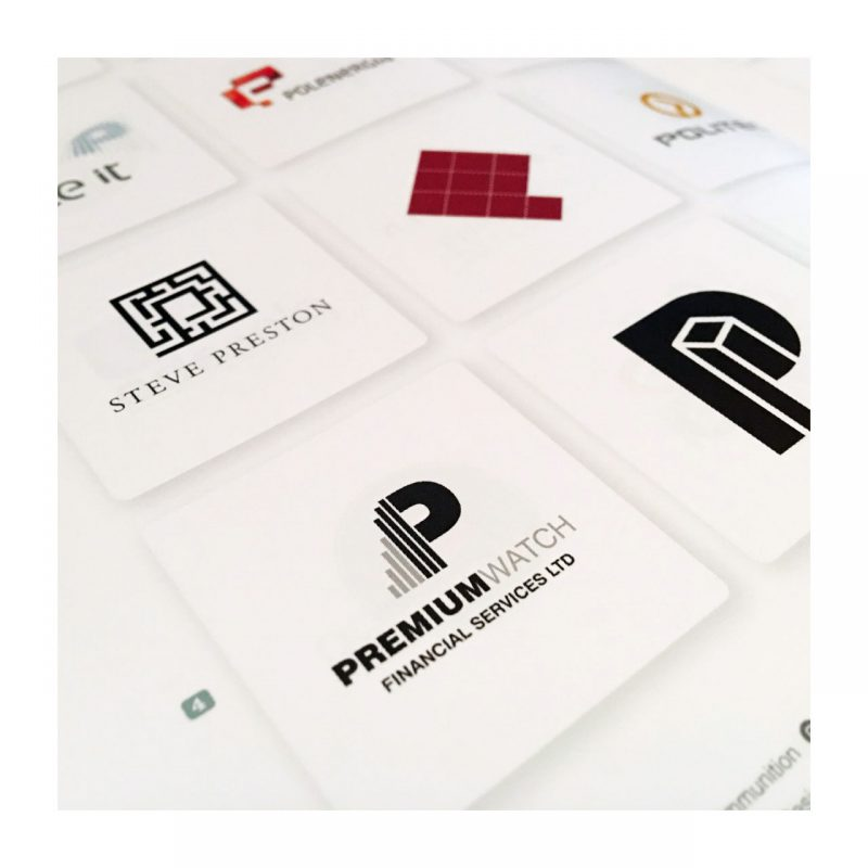 Premium Watch Financial Services Ltd logo printed in the prestigious LogoLounge Master Library book