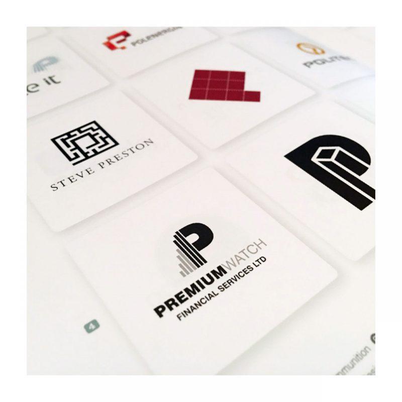 Premium Watch Financial Services Ltd logo printed in the prestigious LogoLounge Master Library book