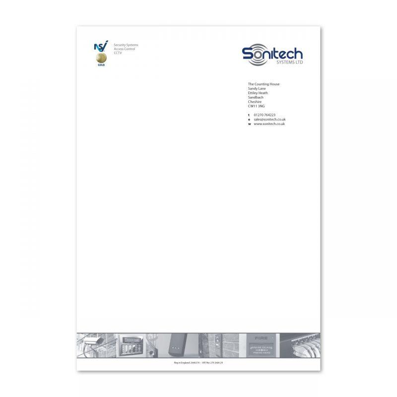 Sonitech letterhead design